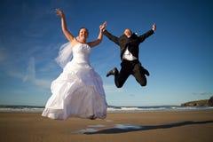 Salto da felicidade Imagens de Stock Royalty Free
