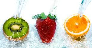 Salto da fruta fresca Imagens de Stock Royalty Free