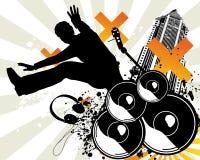 Salto da música Ilustração Royalty Free