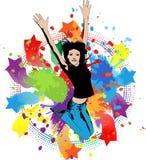 Salto da mulher nova ilustração stock