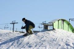 Salto da snowboarding, Austrália Fotos de Stock Royalty Free