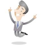 Salto dai capelli grigi dell'uomo d'affari Immagine Stock Libera da Diritti