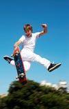 Salto de altura Foto de archivo