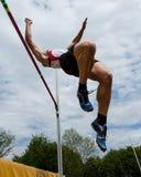 Salto de altura Fotografía de archivo libre de regalías