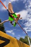 Salto de altura fotos de archivo