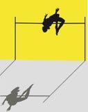 Salto de altura Imagen de archivo libre de regalías