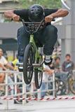 Salto de BMX Fotografia de Stock
