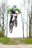 Salto de BMX Fotografía de archivo libre de regalías