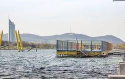 Salto de Danubio Imagen de archivo libre de regalías