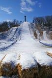 Salto de esquí fotografía de archivo libre de regalías