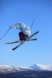 Salto de esquí Imagen de archivo libre de regalías