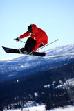 Salto de esquí Fotografía de archivo