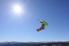 Salto de esquí Imágenes de archivo libres de regalías
