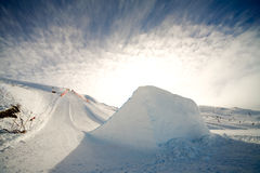 Salto de esquí foto de archivo libre de regalías