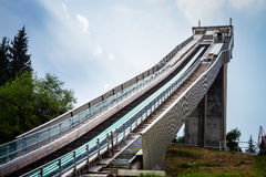Salto de esquí construido foto de archivo libre de regalías