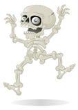 Salto de esqueleto de Halloween com susto Fotos de Stock