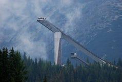 Salto de esqui Fotografia de Stock Royalty Free