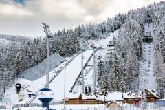 Salto de esqui em Zakopane, Poland Imagens de Stock