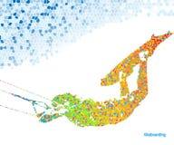 Salto de Kiteboarding Imagem de Stock Royalty Free