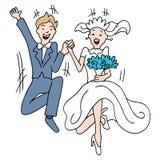 Salto de la boda Fotografía de archivo libre de regalías