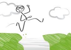 Salto de la carrera stock de ilustración