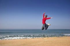 Salto de la felicidad Imagen de archivo
