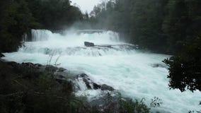 Salto de La Leona Waterfall, Chile stock video