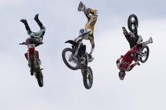 Salto de la motocicleta Imágenes de archivo libres de regalías