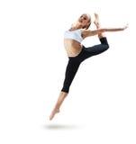 Salto de la muchacha del deporte Fotos de archivo libres de regalías