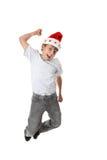 Salto de la Navidad para la alegría foto de archivo