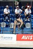 salto de la plataforma 10m en el campeonato del mundo de FINA Fotos de archivo libres de regalías