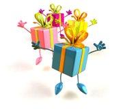 Salto de los regalos ilustración del vector