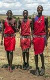 Salto de Mara del Masai Foto de archivo libre de regalías