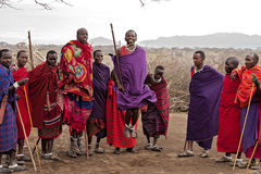 Salto de Mara do Masai Imagem de Stock Royalty Free