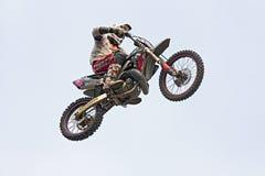 Salto de Motorcross Foto de Stock