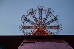 Salto de paraquedas de Coney Island Foto de Stock