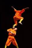 Salto de Shaolin Imagen de archivo libre de regalías