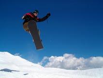 Salto de Snowborder Fotos de Stock