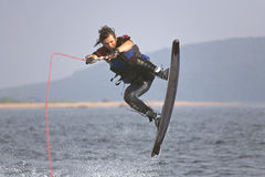Salto de Wakeboarding Foto de Stock