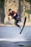 Salto de Wakeboarding Foto de archivo libre de regalías