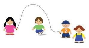 Salto dei bambini Royalty Illustrazione gratis
