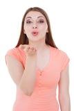 Salto del bacio a voi Fotografia Stock