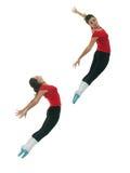 Salto del bailarín de ballet Foto de archivo