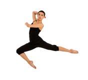 Salto del bailarín de la bailarina Fotografía de archivo libre de regalías