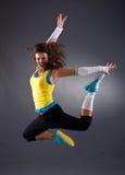 Salto del bailarín del salto de la cadera Imagen de archivo