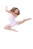 Salto del ballerino di balletto Fotografie Stock