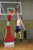 Salto del baloncesto Foto de archivo libre de regalías