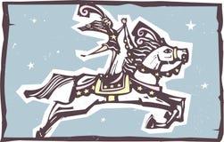 Salto del caballo del circo Fotografía de archivo libre de regalías