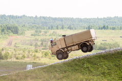 Salto del camion di sport di Kamaz Immagine Stock
