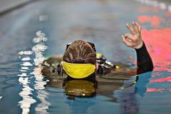 Salto del coche en agua Imagen de archivo